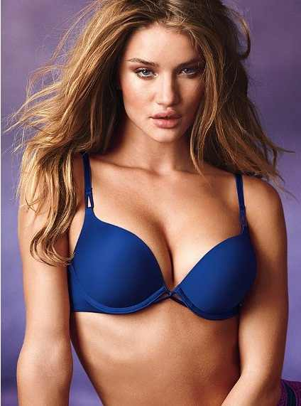 Her name is Rosie. Her breasts help to sell bras for Victoria's Secret.