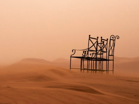Morocco chairs in desert, J cummings photo tour